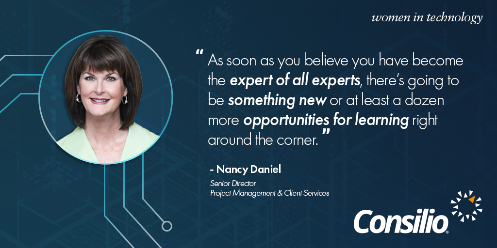 Nancy Daniel Women in Technology Quote