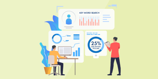 Collection and keyword search strategies save 25% review volume