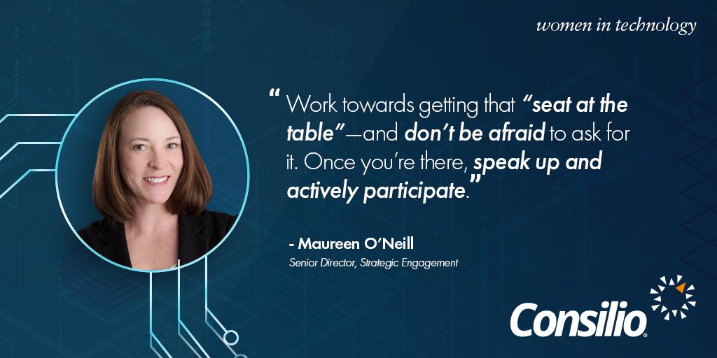 Women in Technology Maureen O'Neill Quote